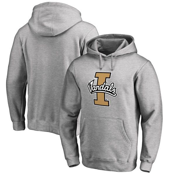 de1f8af378e Idaho Vandals Fanatics Branded Big   Tall Primary Team Logo Pullover Hoodie  - Heathered Gray