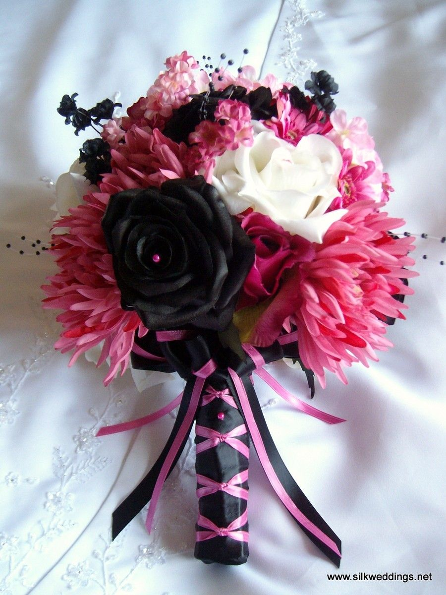 Black And Pink Bouquet Cute Design Change The Colors To Match Mine