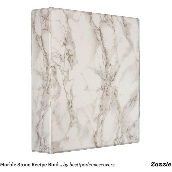Marble Stone Recipe Binder ($22) Liked On Polyvore