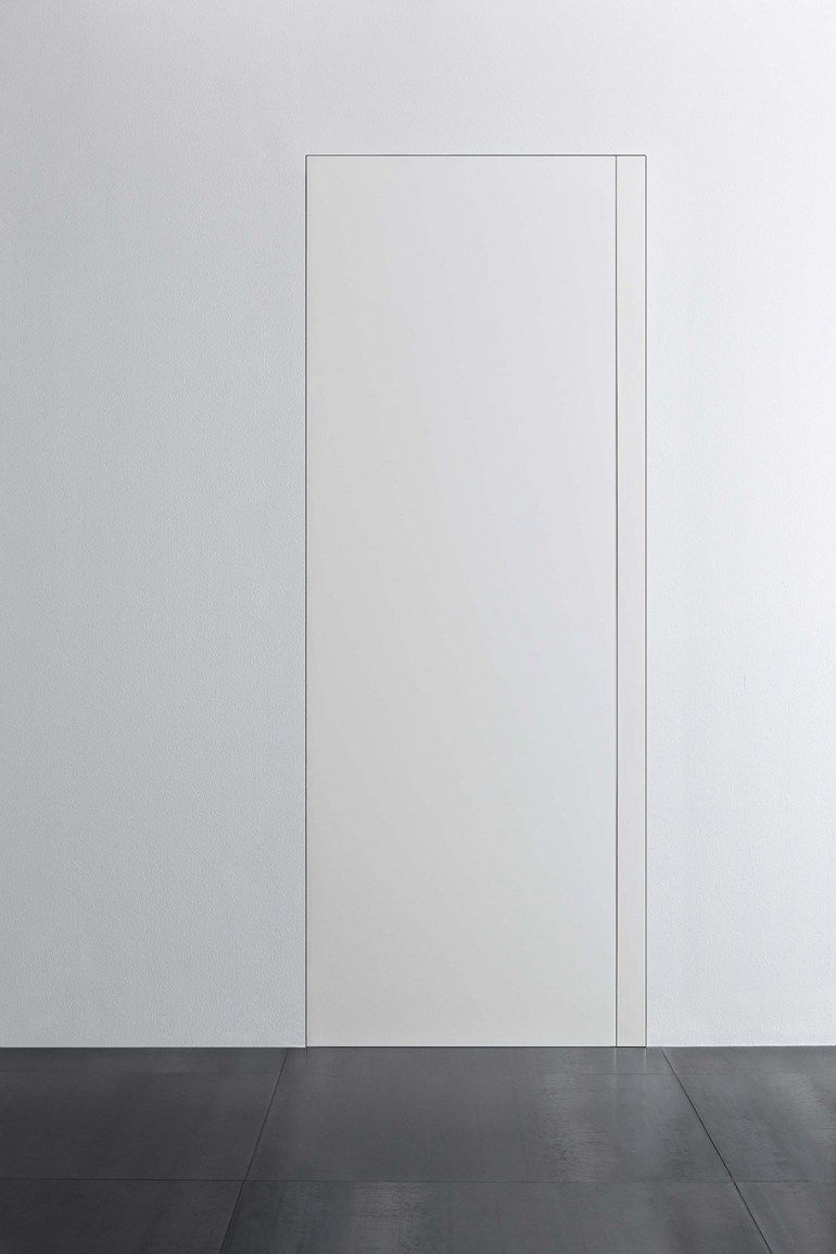 Flush fitting door with concealed hinges without frame for Porte xinnix