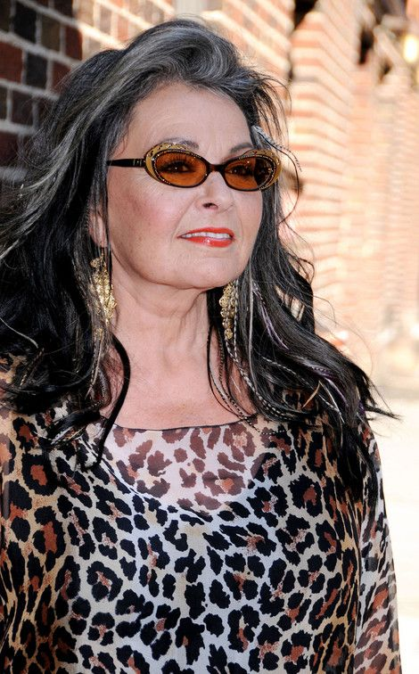 roseanne barr gray hair