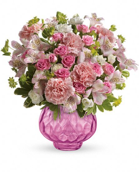 Teleflora S Simply Pink Bouquet Flowers