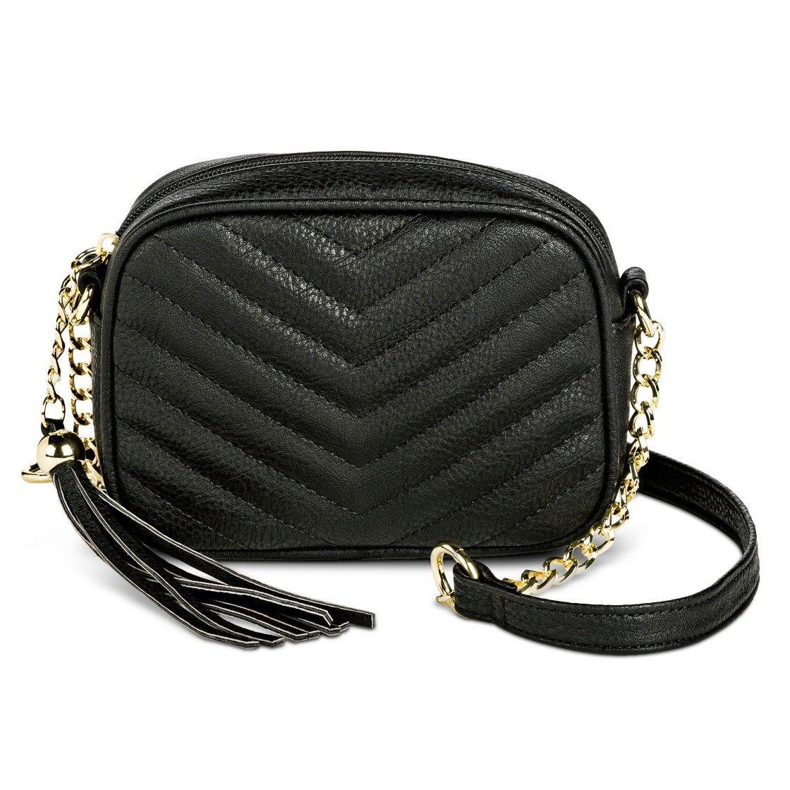 Women's Quilted Crossbody Handbag with Tassel
