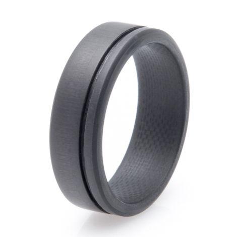Menu0027s Simplex Carbon Fiber Wedding Ring