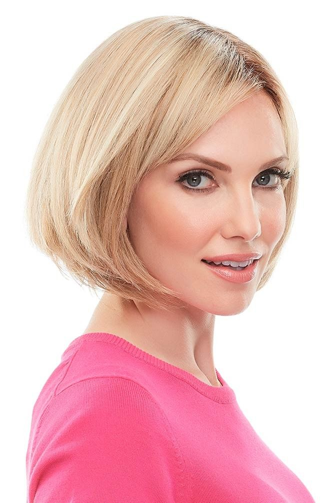 Top This 8 Inch Human Hair Topper by Jon Renau Wigs - Single Monofilament, Remy Human Hair Topper #naturalashblonde