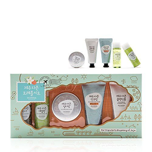 Ecosia Jejudameun Travel Kit (Toner/Emulsion/Multi Balm/Cleansing Foam/Sun Cream 30ml5ea) Korea Cosmetics ** You can get more details here : Travel toiletries