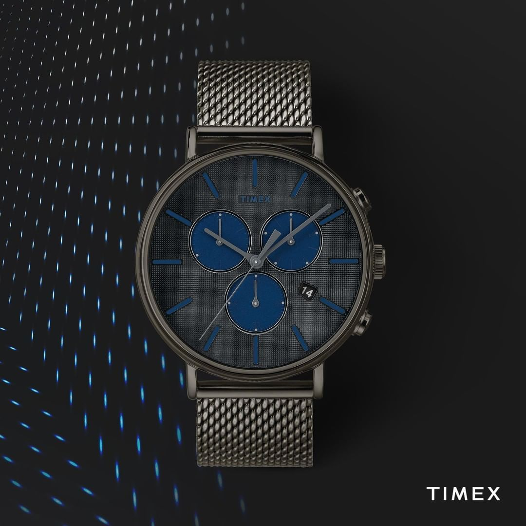 """0db3c29ddcf7 Timex on Instagram  """"The mesh band provides a fresh take on our Fairfield  Supernova.  timex  timexfairfield⌚   Fairfield Supernova Chrono"""