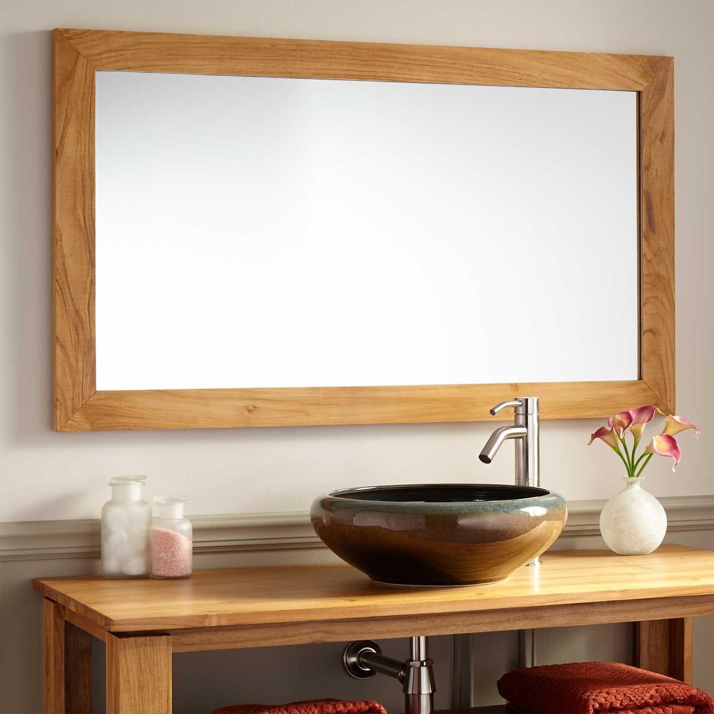 Oak Framed Mirrors Bathroom Wood Mirror