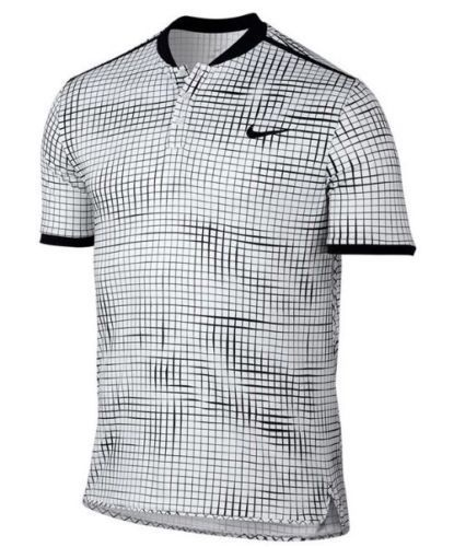 Nike Court Advantage Printed Tennis Polo Mens 2xl White Black 801702 100 Camisetas Deportivas Camisetas Nike