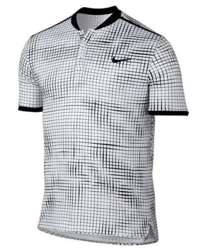62b133c96865 Nike Court Advantage Printed Tennis Polo Mens 2XL White Black 801702 100   Nike  ShirtsTops