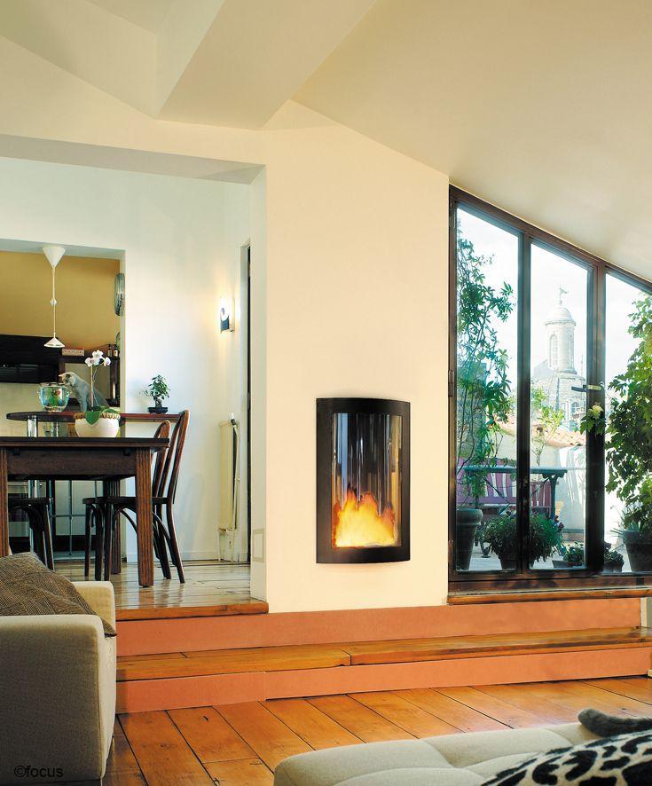cheminee pictofocus foyer à gaz intégré fermé, à ventouse #design