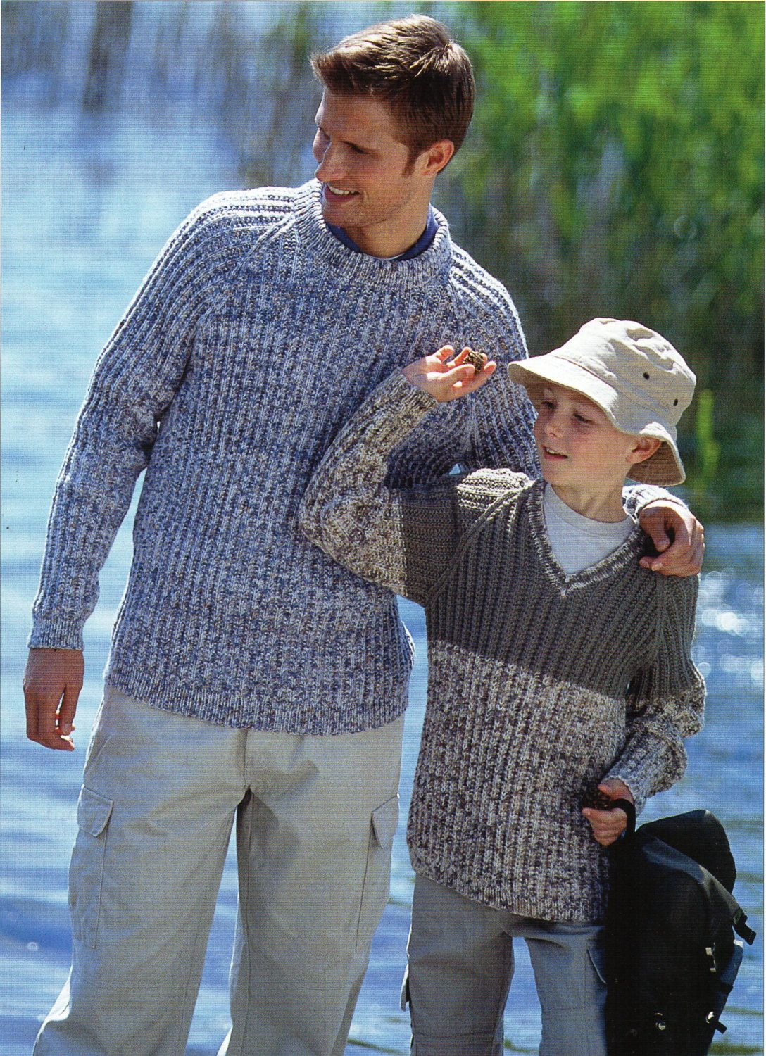 1a7008246 Mens ribbed sweater Knitting Pattern PDF Boys Jumper fishermans rib ...