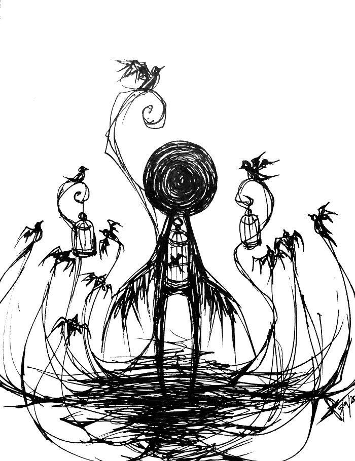 Мрачные картинки карандашом для срисовки