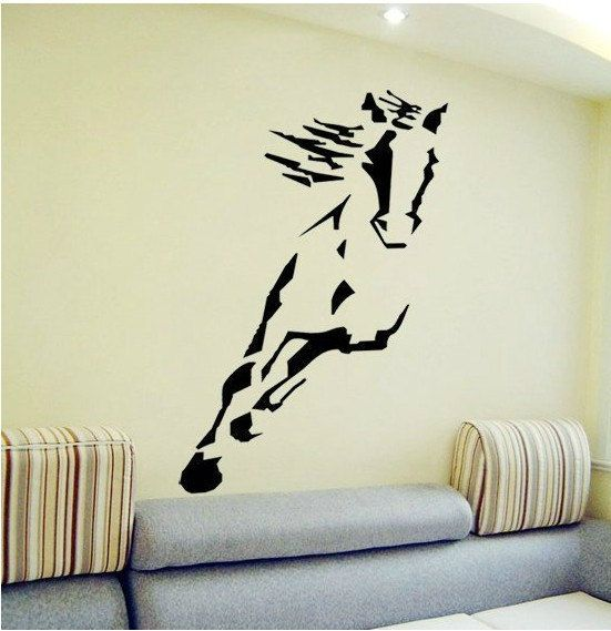 Vinyl Horse Wall DecalRunning Horse Wall Stickers By Stickershut - Wall decals horses