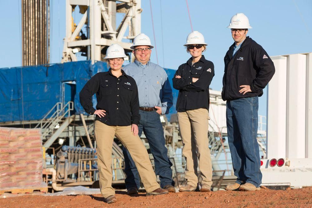 Marathon oil jobs drilling engineers on a rig location in