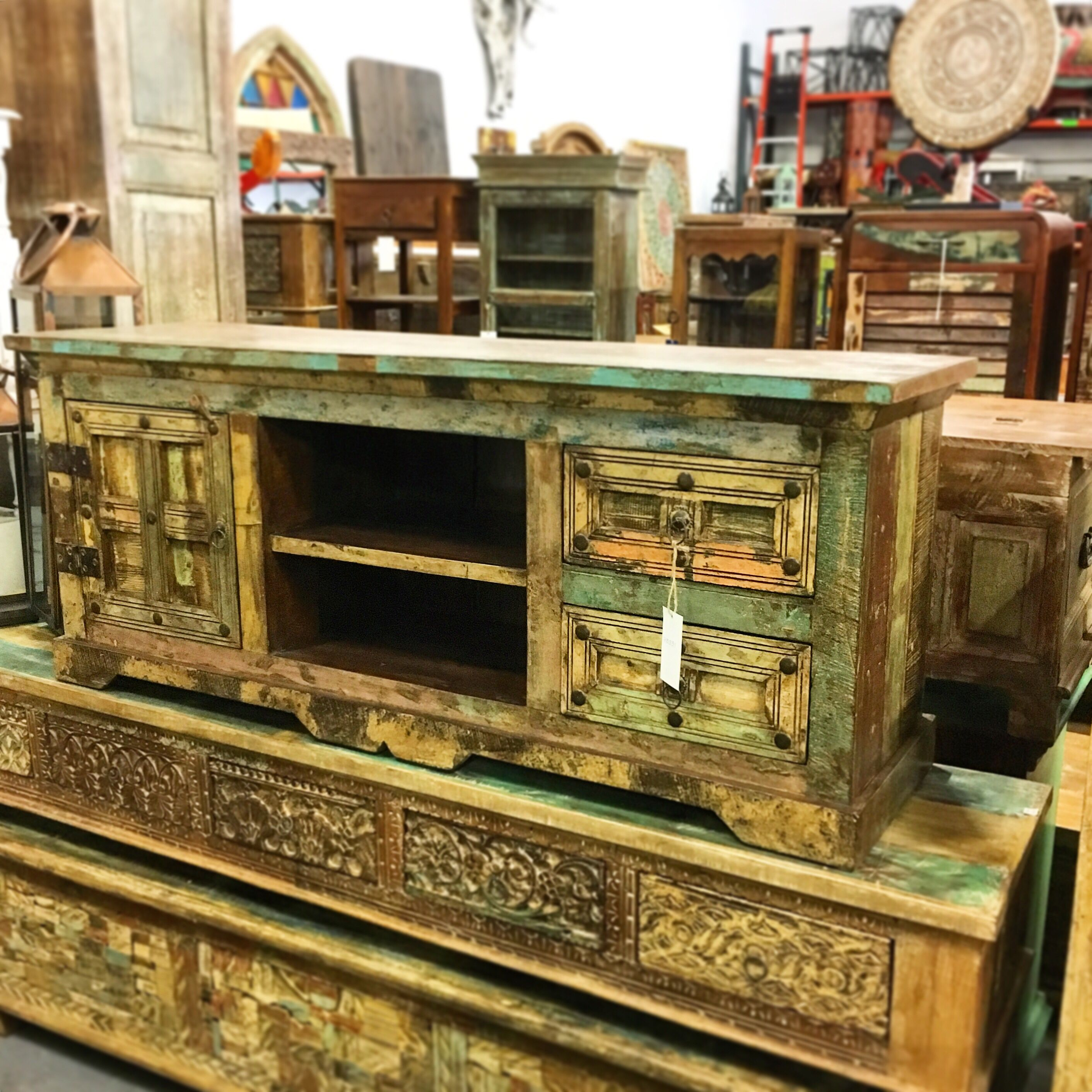 Distressed Tv Stand Artisan Furniture Distressed Tv Stand