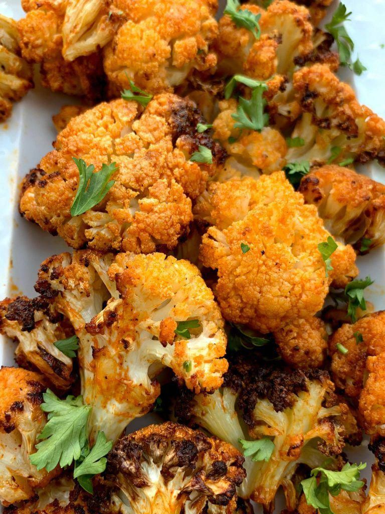 Keto LowCarb Vegetarian Air Fryer Cauliflower Buffalo