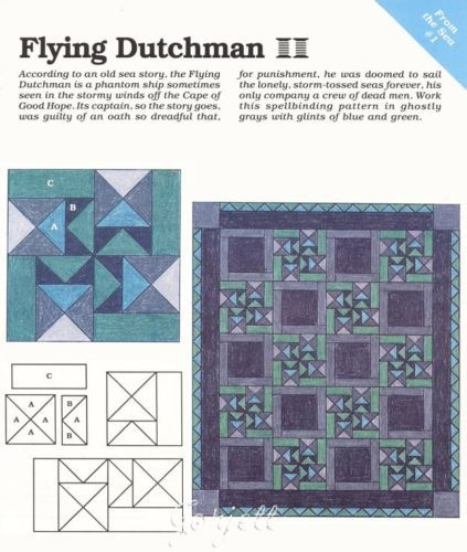 Flying Dutchman Quilt Block Spinning Spools Quilt Pattern