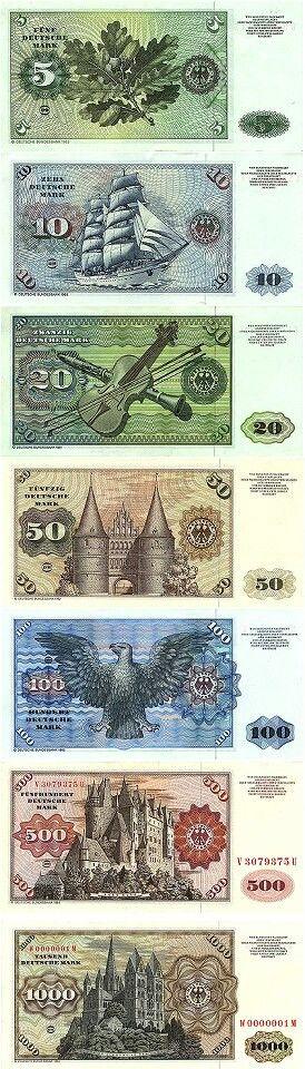 die alte Deutsche Mark. Ich will sie wieder haben