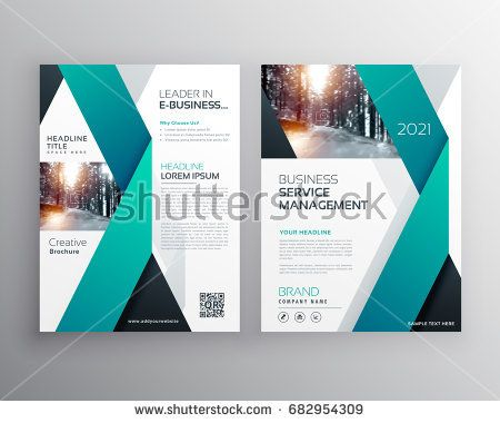 blue professional business flyer brochure or annual report poster