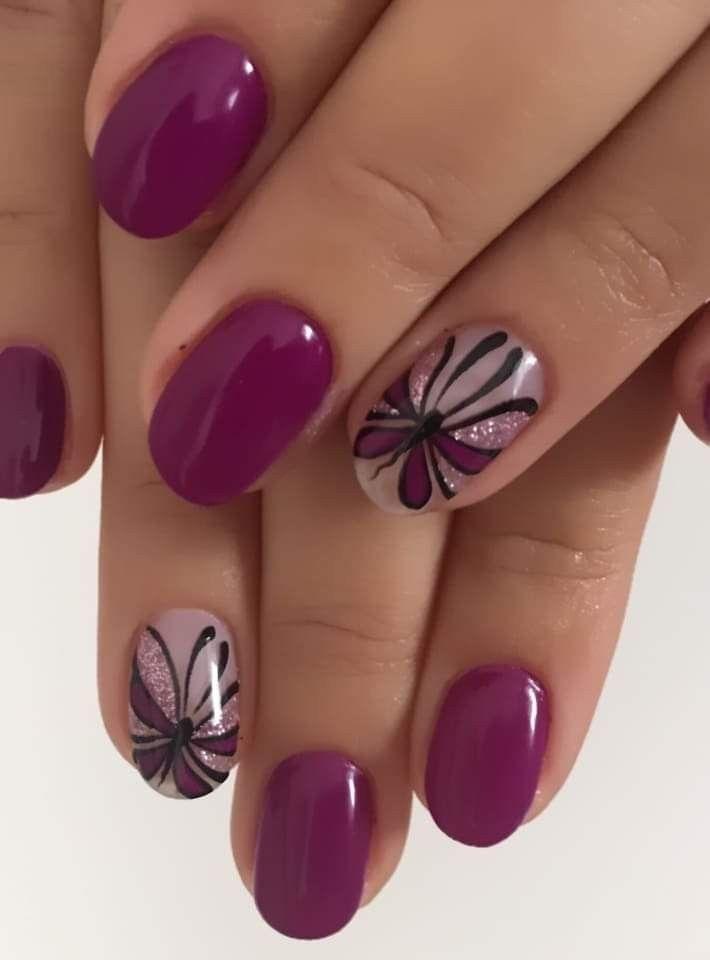 Pin By Eva Paredes On Krasivye Nogti In 2020 Purple Nails Purple Nail Art Nail Art Designs