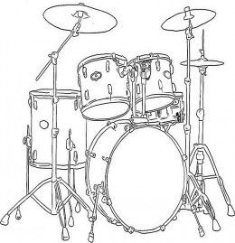 Musical Instruments Kids Coloring Pages Free Colouring Pictures To