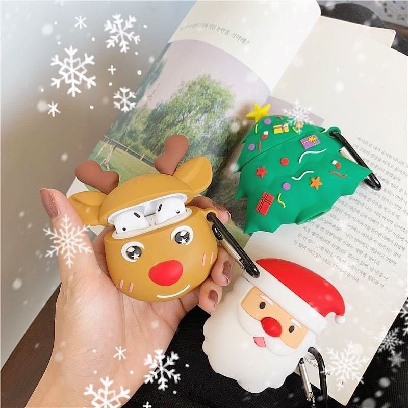 Free Airpods Giveaway Airpods Case Airpods Case Airpods Case S2กวาง Pod 809 S2ตนไม Pod 810 S2ซานตา Cartoon Christmas Tree Christmas Cartoons Earphone Case
