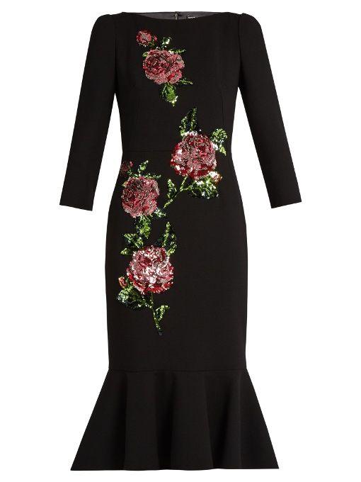 DOLCE & GABBANA. Embellished DressSequin ...