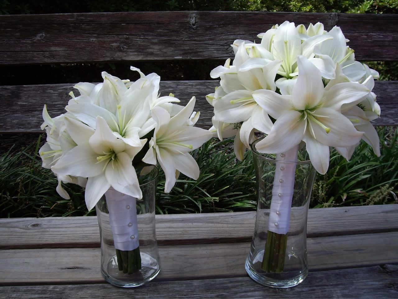 White Asiatic Lily Bouquets For All The Girls