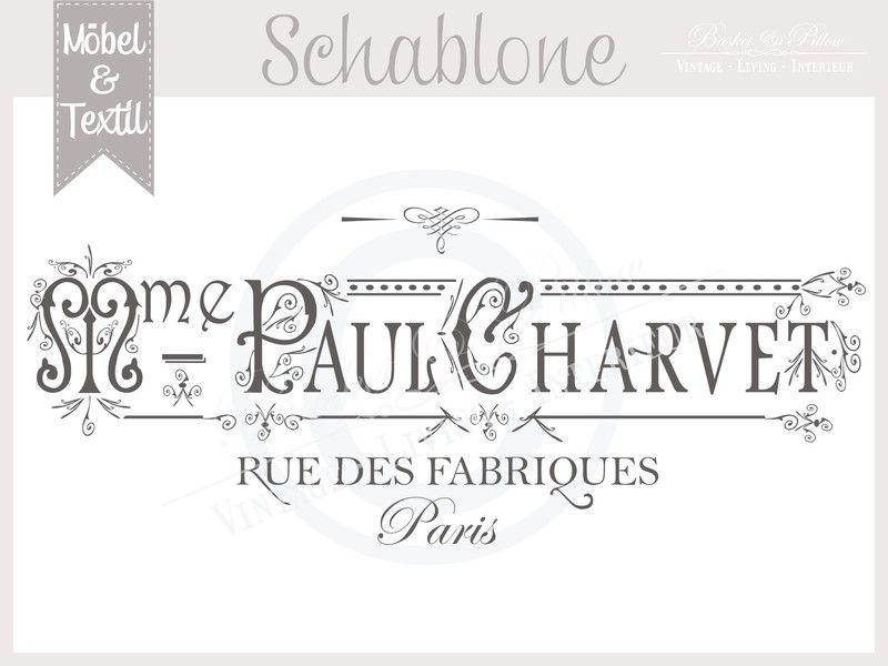 Vintage Schablone * PAUL PARIS *French Shabby Look von Basket ...