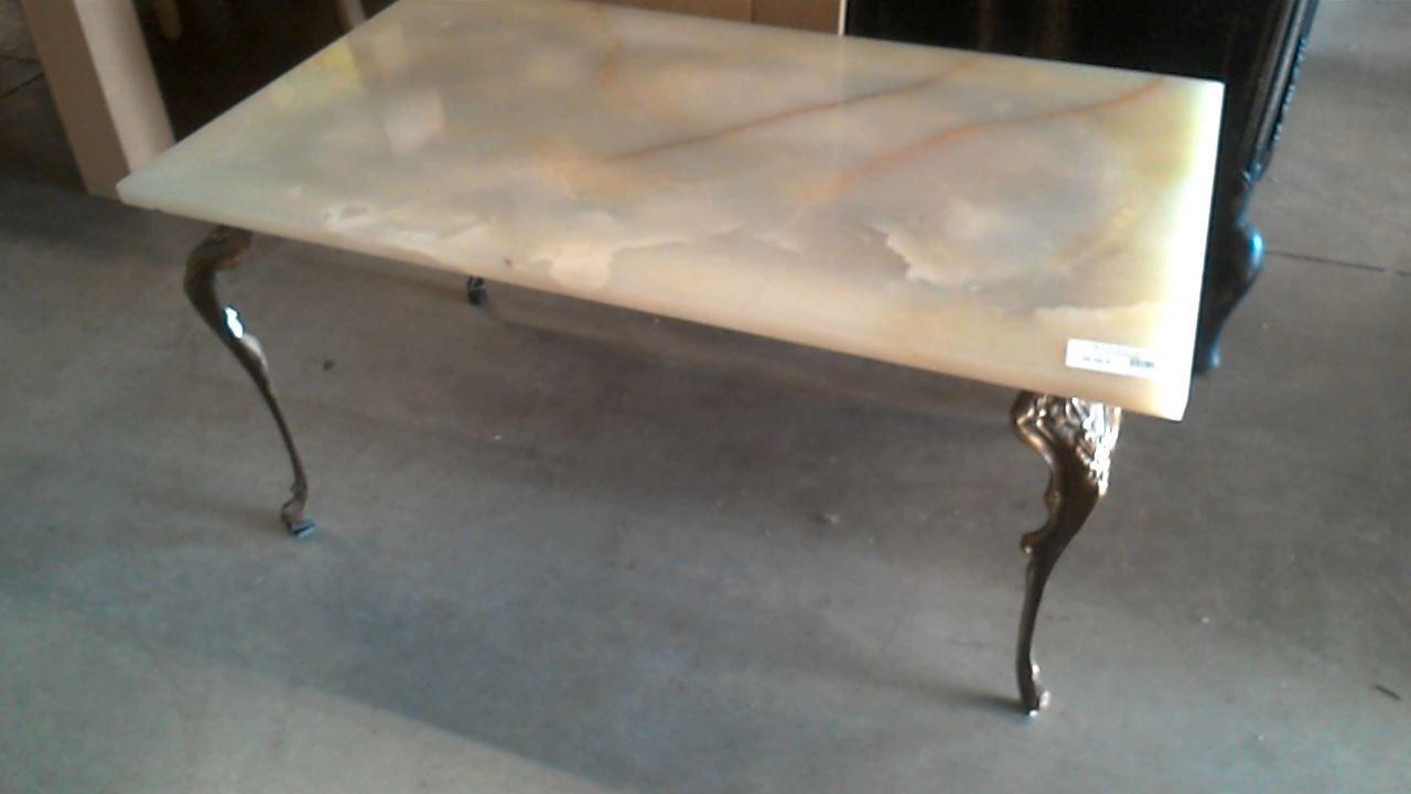 Table Basse Pied Laiton Marbre Doccasion Troccom Nina Bar