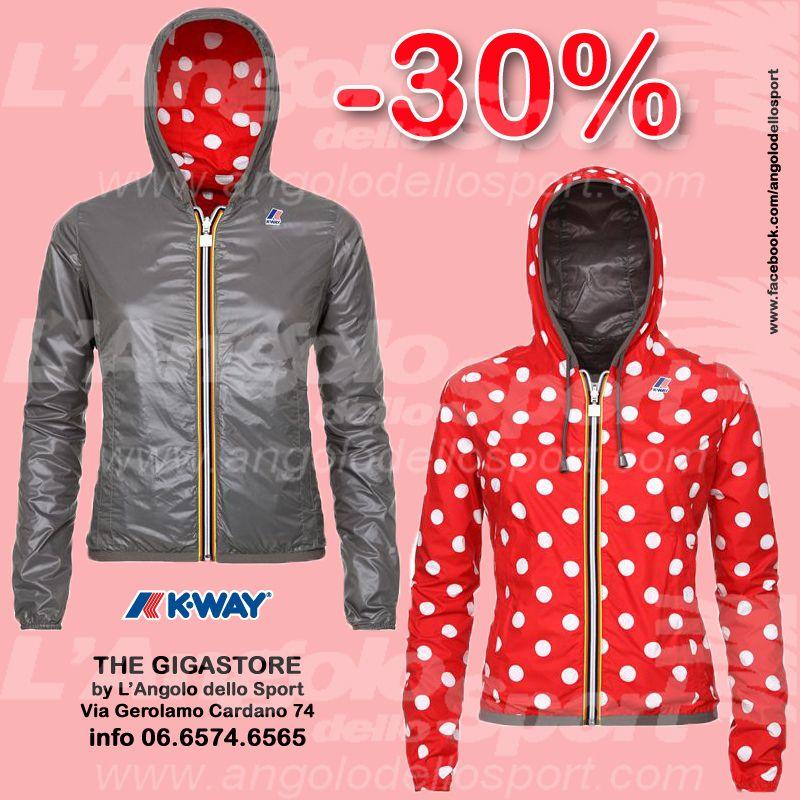 #AngoloSaldi -30% donna Lily Plus Double Fabrics #KWAY. Gigastore Via G. Cardano 74 - 06.6574.6565