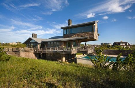 Amazing Crafty Cantilever: Shingled Beach Home Adds Loft On Stilts