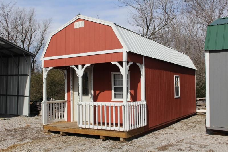 DISCOUNTED*** LOFTED CABIN 12x28 | house in 2019 | Portable storage