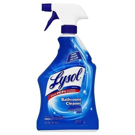 Lysol Complete Clean Bathroom Cleaner Spray Island Breeze Bathroom Cleaner Bathroom Cleaning Lysol Cleaning Products