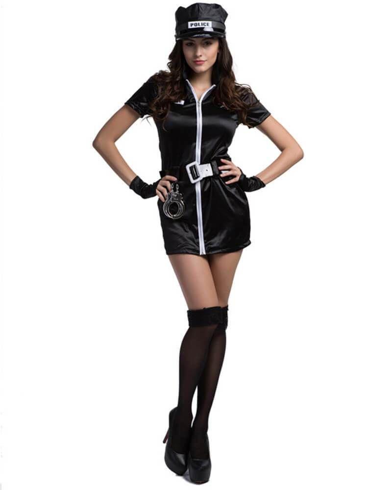Forplay womens long sleeve biker police costume