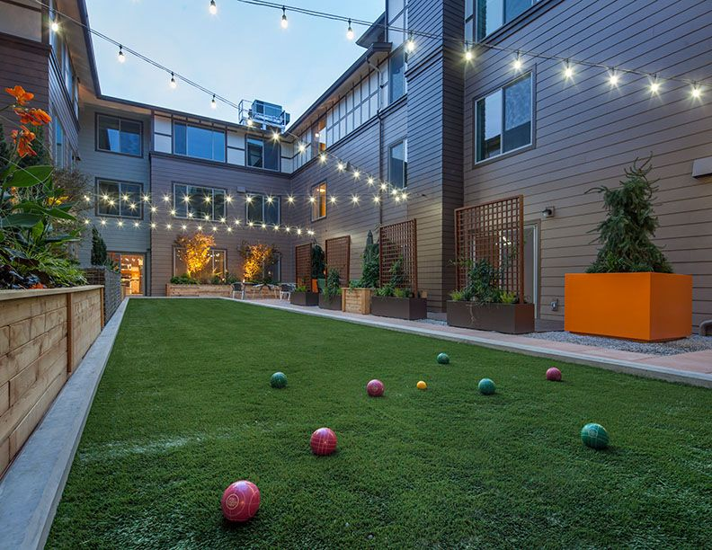 The Play Bocce courtyard...host a bocce ball tournament