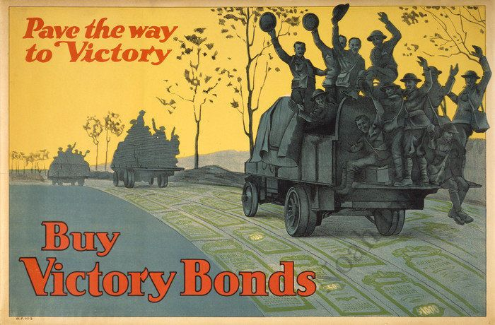 Buy Victory Bonds vintage WWI poster repro 36x24