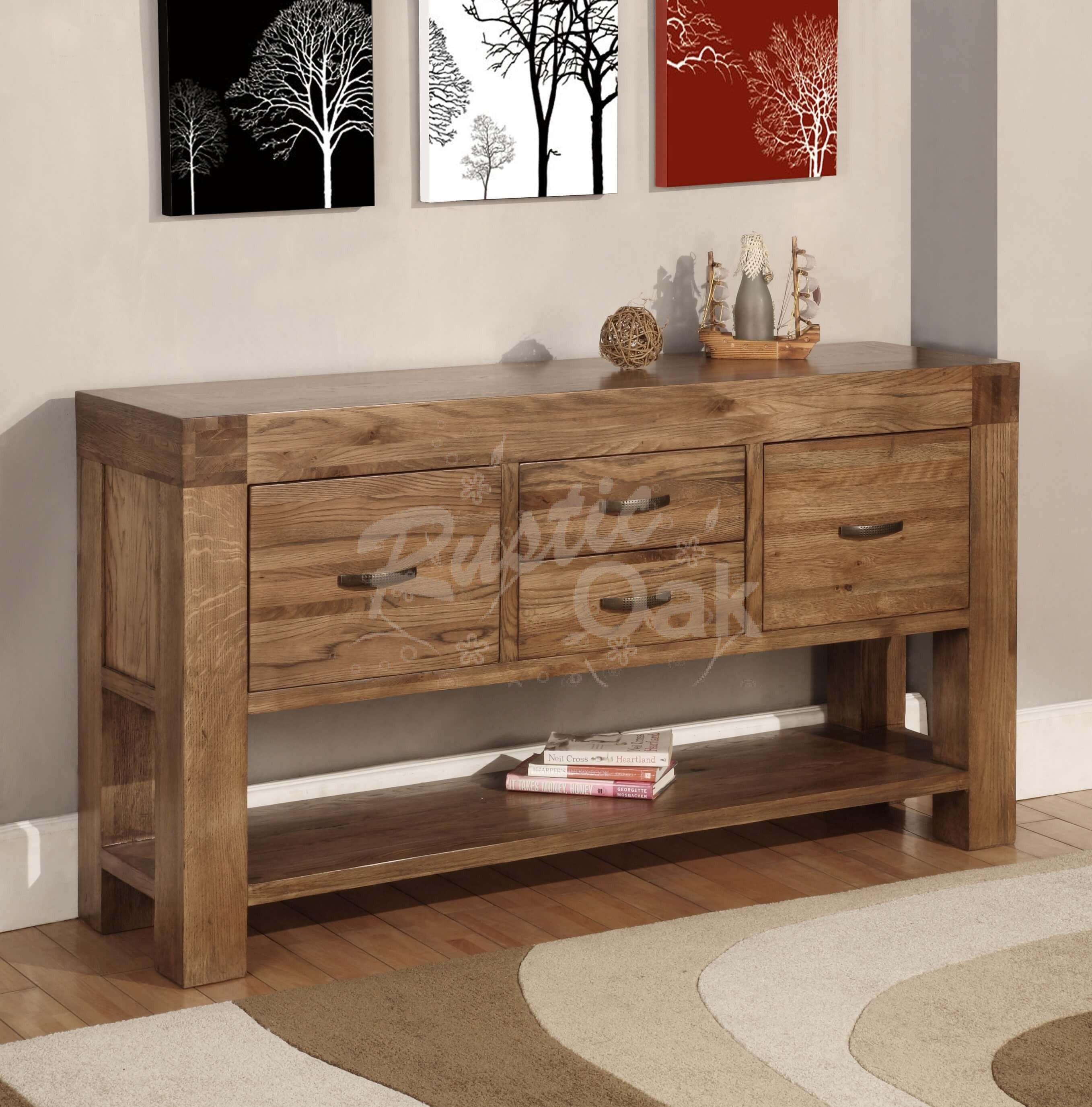 Santana Hall Table Rustic Oak Furniture