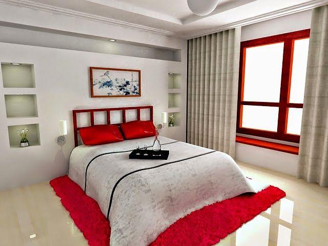 petite chambre blanc et rouge | decoration | Pinterest | Rouge and ...