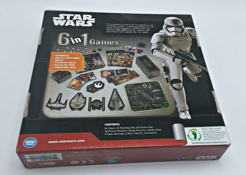 The Force Awakens 6-in-1 Game New 1360 Dominoes Battle Matching Star Wars