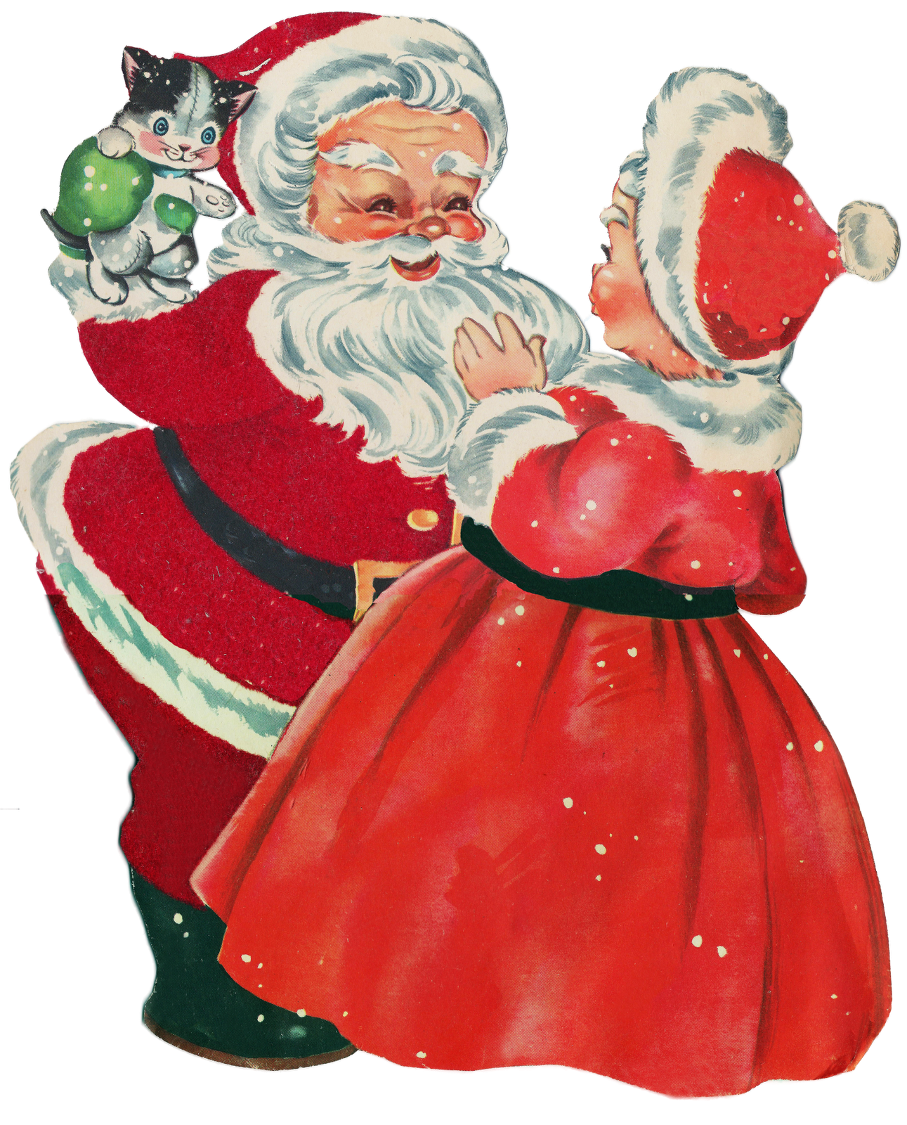 Mr and mrs claus ornaments - Santa Mrs Claus