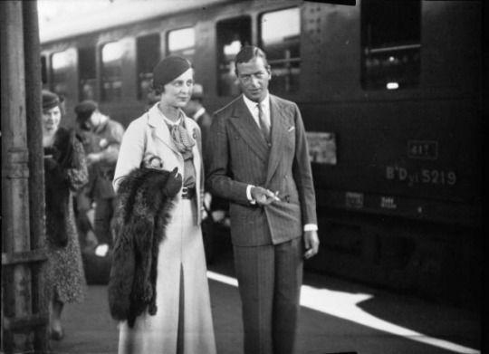Gorgeous couple, and Royal, Prince George and Princess Marina.