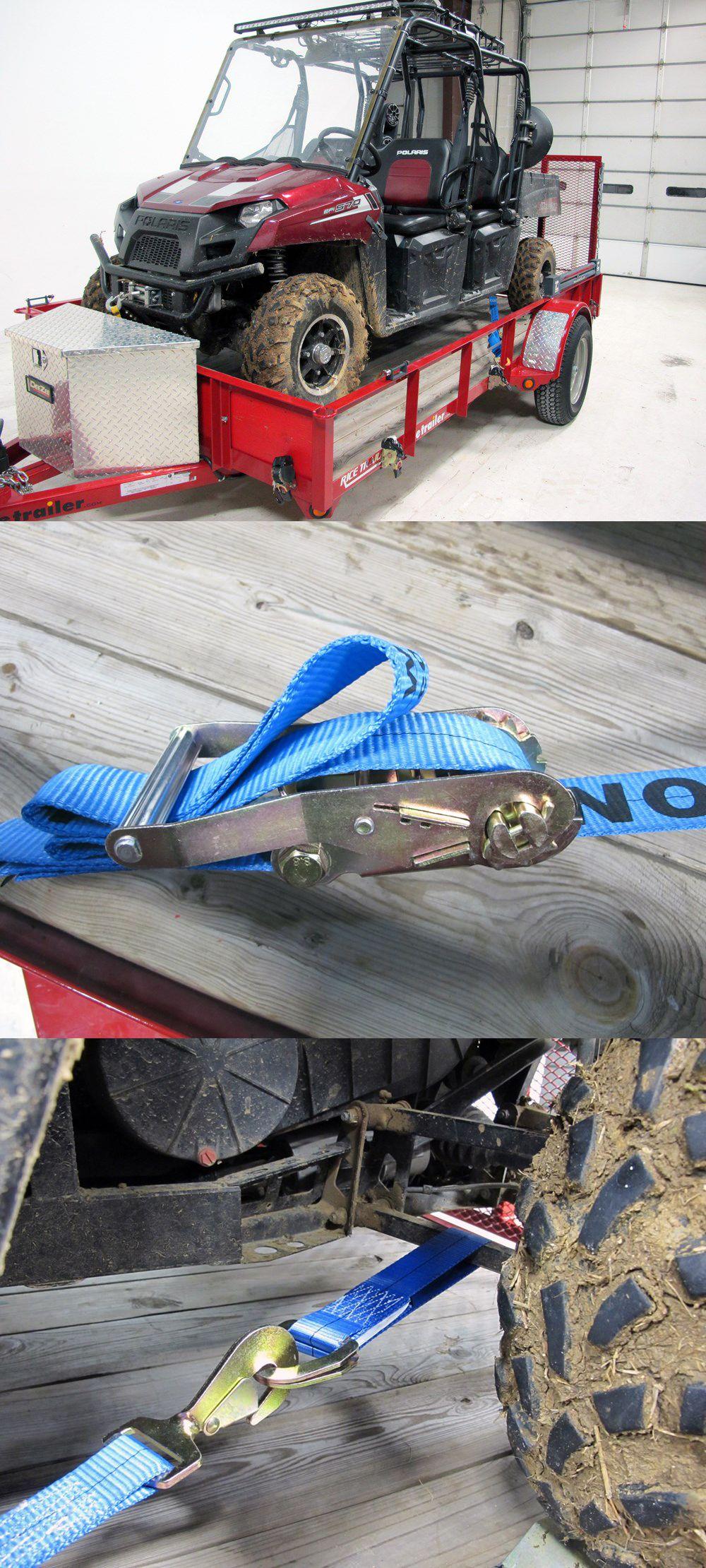 Erickson car tiedown kit twisted flat hooks and axle