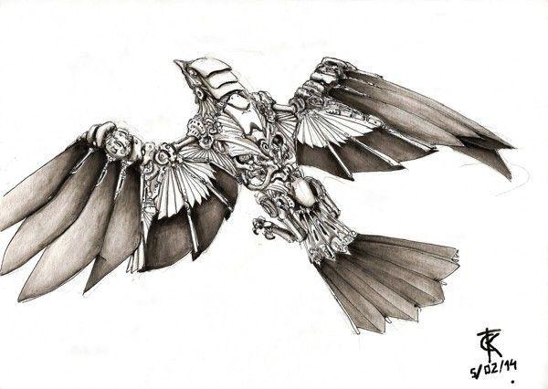 Tattoo Bird Biomechanical Steampunk Bird Steampunk Animals Bird Sketch