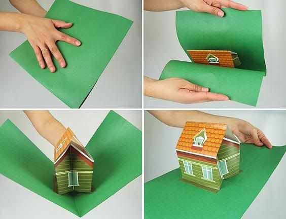 Papermau 3d Pop Up House Papercraft By Uol Casa 3d Pop Up Diy Pop Up Book Pop Up Art Paper Pop
