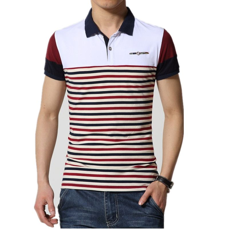 Factory direct sale polo Shirt For Men's 2016 Summer Fashion stripe polo Shirt Men Casual Men's polo shirt big size XXXXL