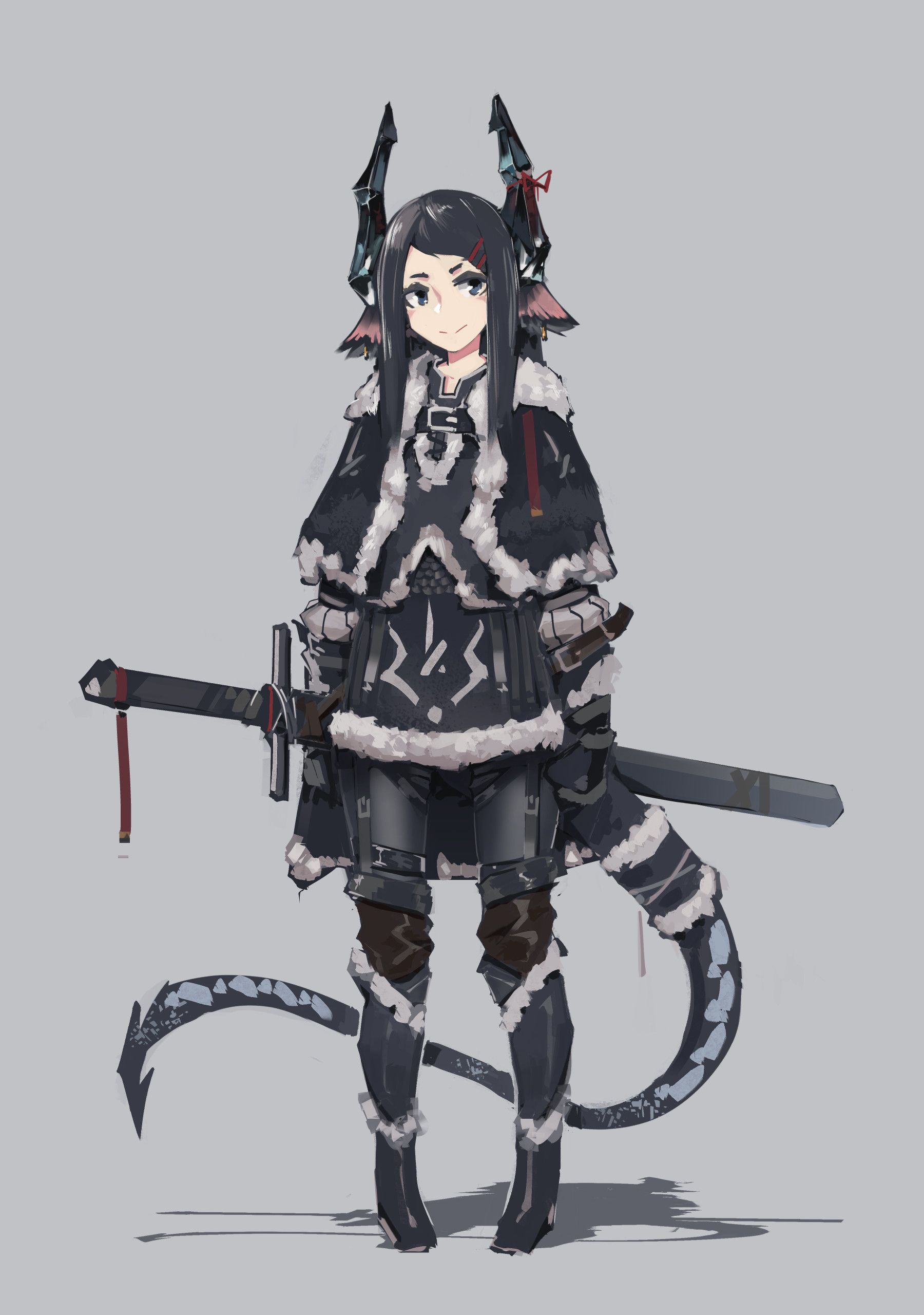 Artstation Dragon Girl Ice Mendel Oh Dragon Girl Fantasy Character Design Concept Art Characters