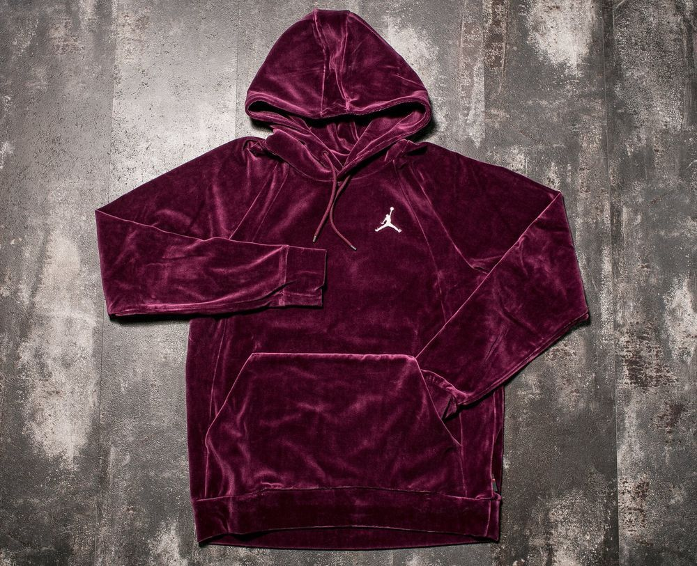 82997175cad Color :Bordeaux//Sail. Product Name :New Men's Air Jordan Velour Pull-Over  Hoodie. Gender :Men / Adult. NEW and. | eBay!
