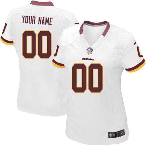 Nike Washington Redskins Customized White Stitched Elite Women s NFL Jersey f7685662a4693